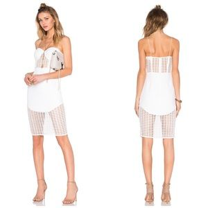 NWT NBD Revolve 4AM Bustier Grid Sheer Dress